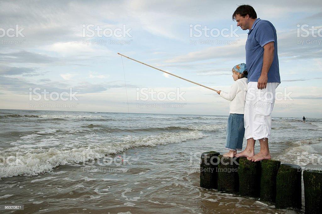 Little fisherman royalty-free stock photo