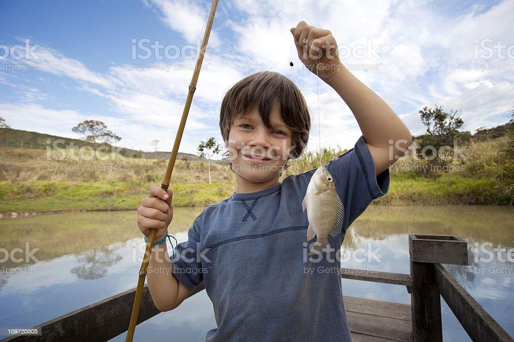Little fishermen stock photo