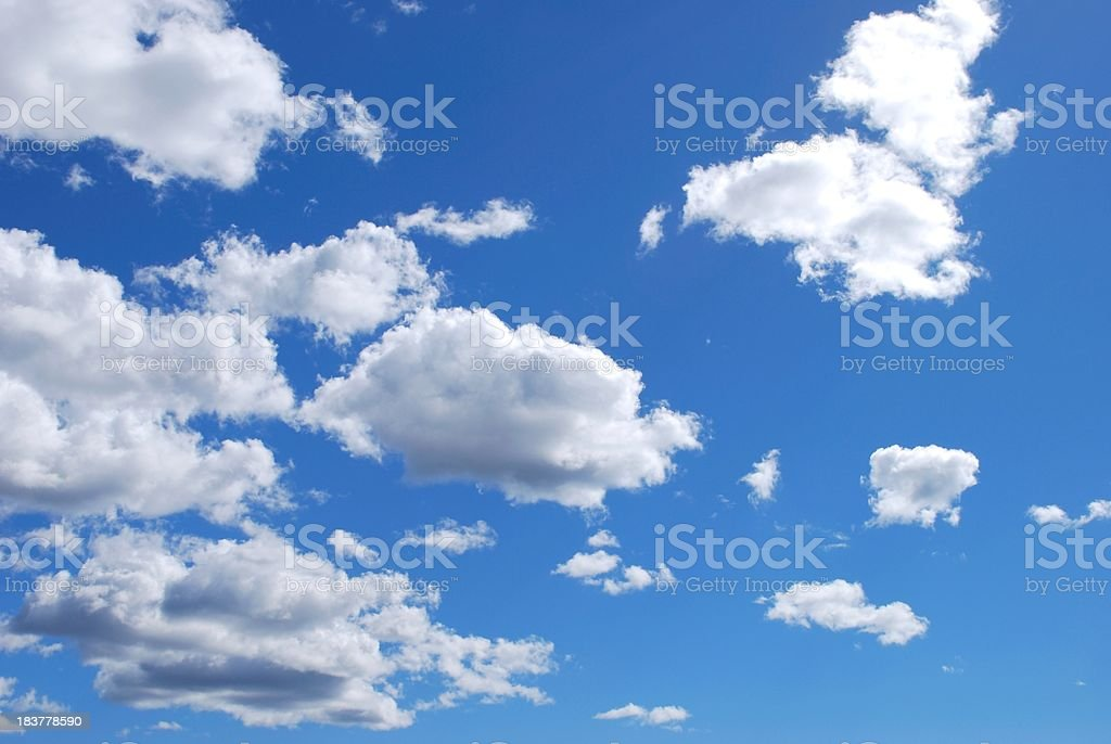 Little Fluffy Clouds royalty-free stock photo