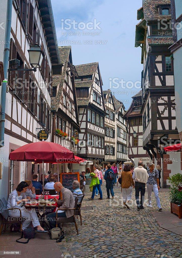 Little France quarter in Strasbourg, France stock photo