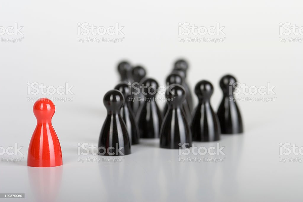 Little games pieces representing diversity stock photo