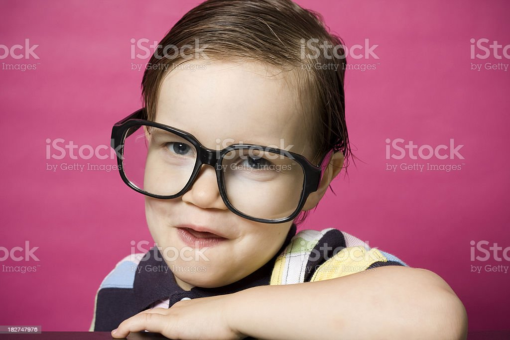 Little Geek stock photo