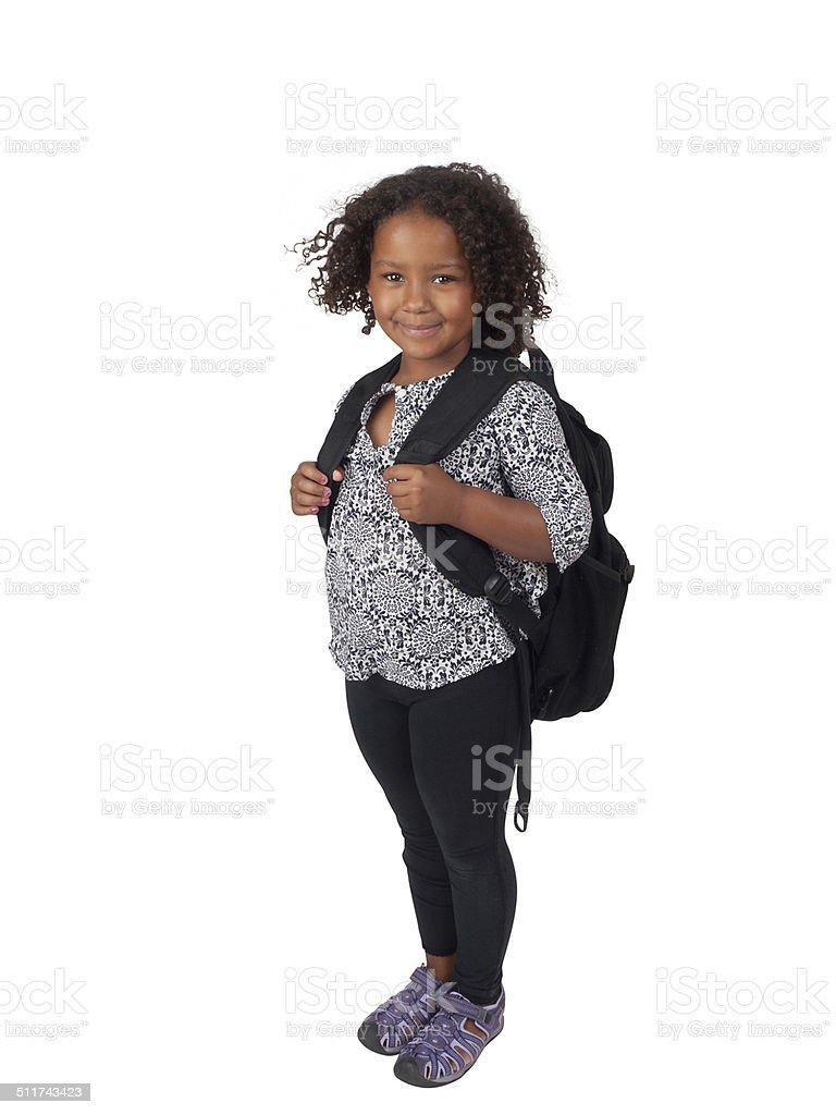 Little Ghanaian - Canadian school girl stock photo