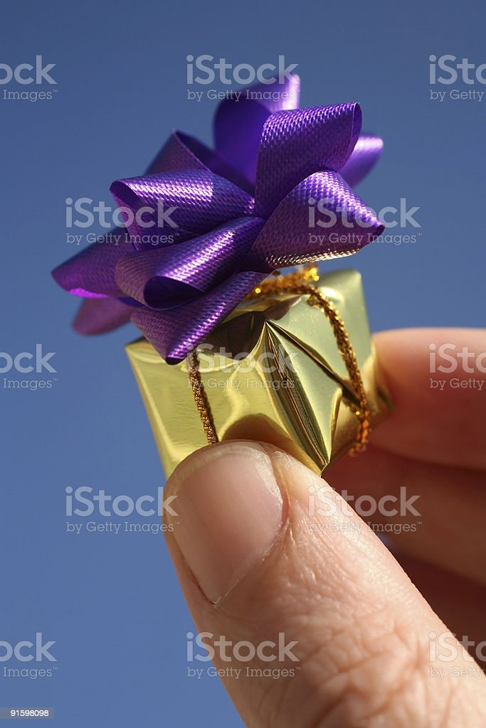 little gift box royalty-free stock photo