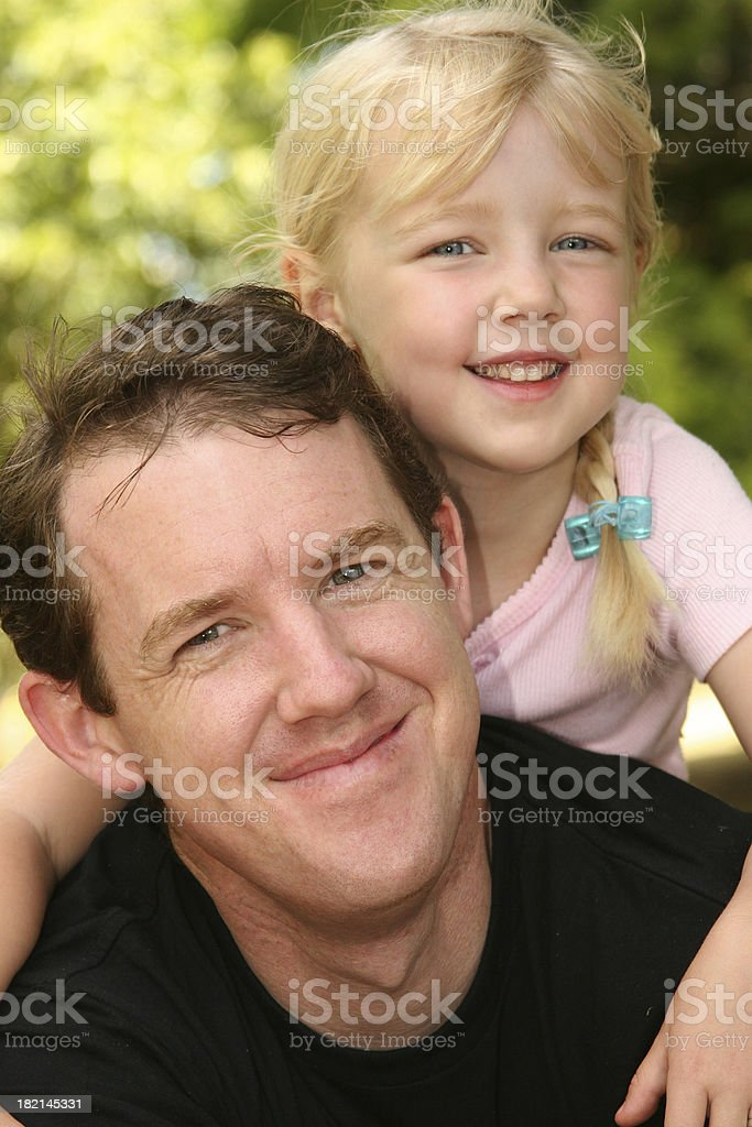 Little girl and daddy royalty-free stock photo