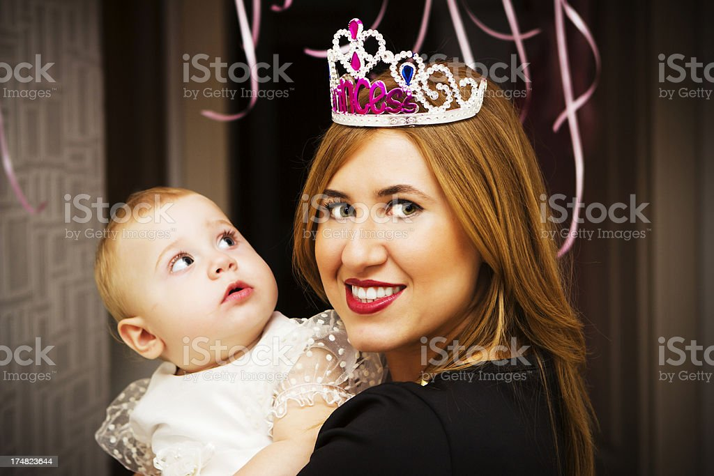 Little Girl and Mother royalty-free stock photo
