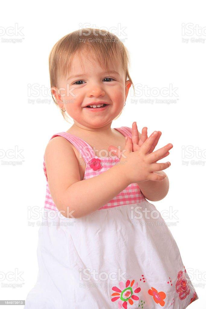 Little Girl Applaud royalty-free stock photo