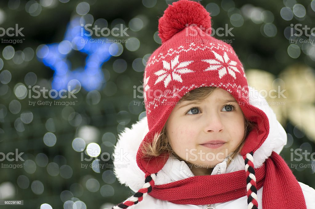 Little girl at Christmas time royalty-free stock photo
