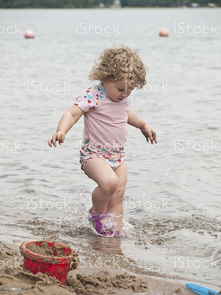 Little Girl at Lake royalty-free stock photo