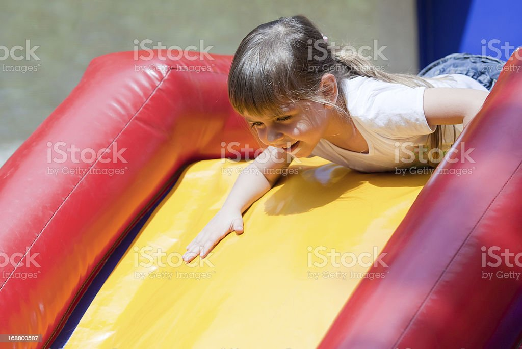 Little girl at play royalty-free stock photo
