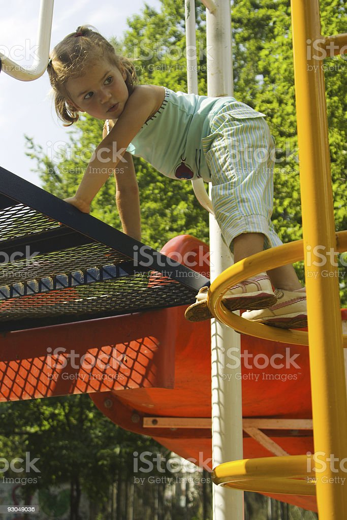 Little girl at playground royalty-free stock photo
