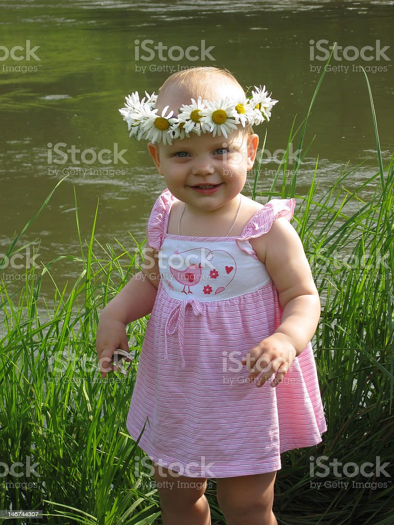 Little girl at summer royalty-free stock photo