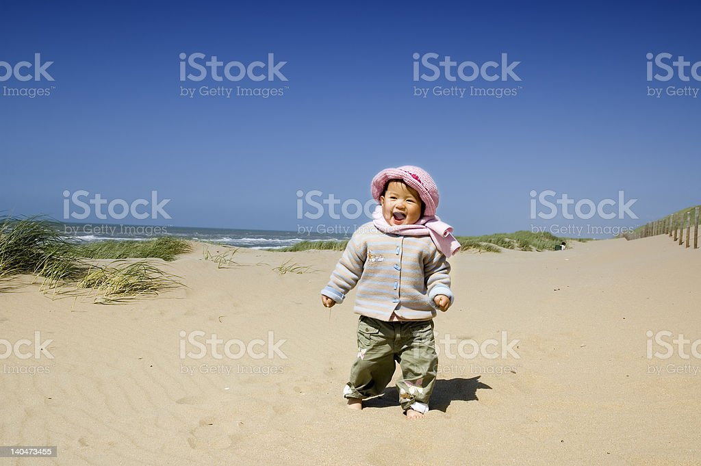 little girl at the beach royalty-free stock photo