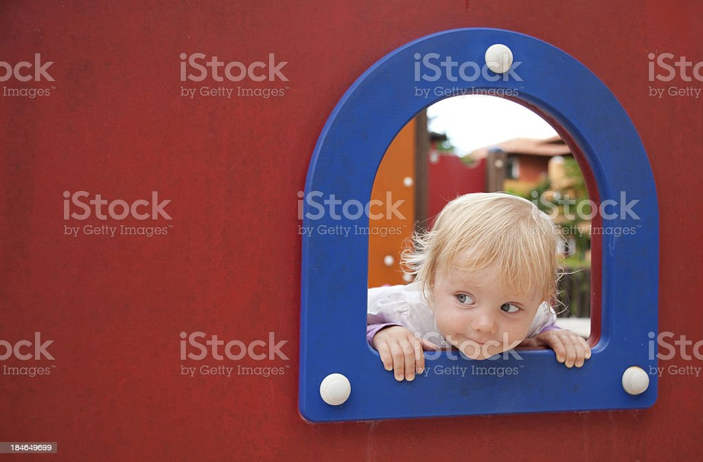 Little girl at the playground royalty-free stock photo