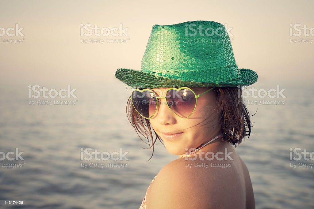 Little Girl at the Sea royalty-free stock photo