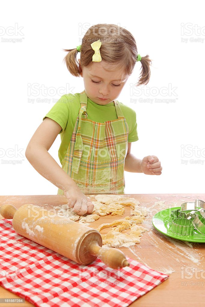 Little girl baking cakes royalty-free stock photo