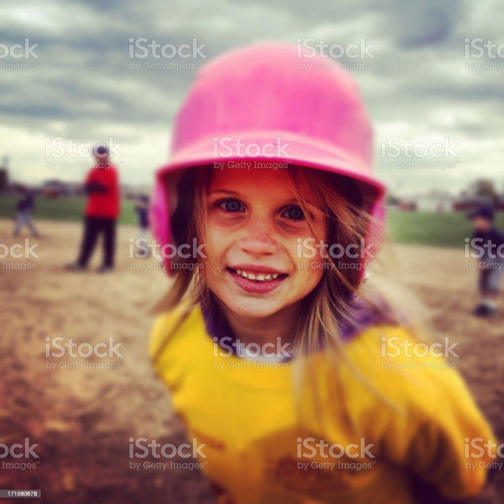 Little Girl Baseball stock photo