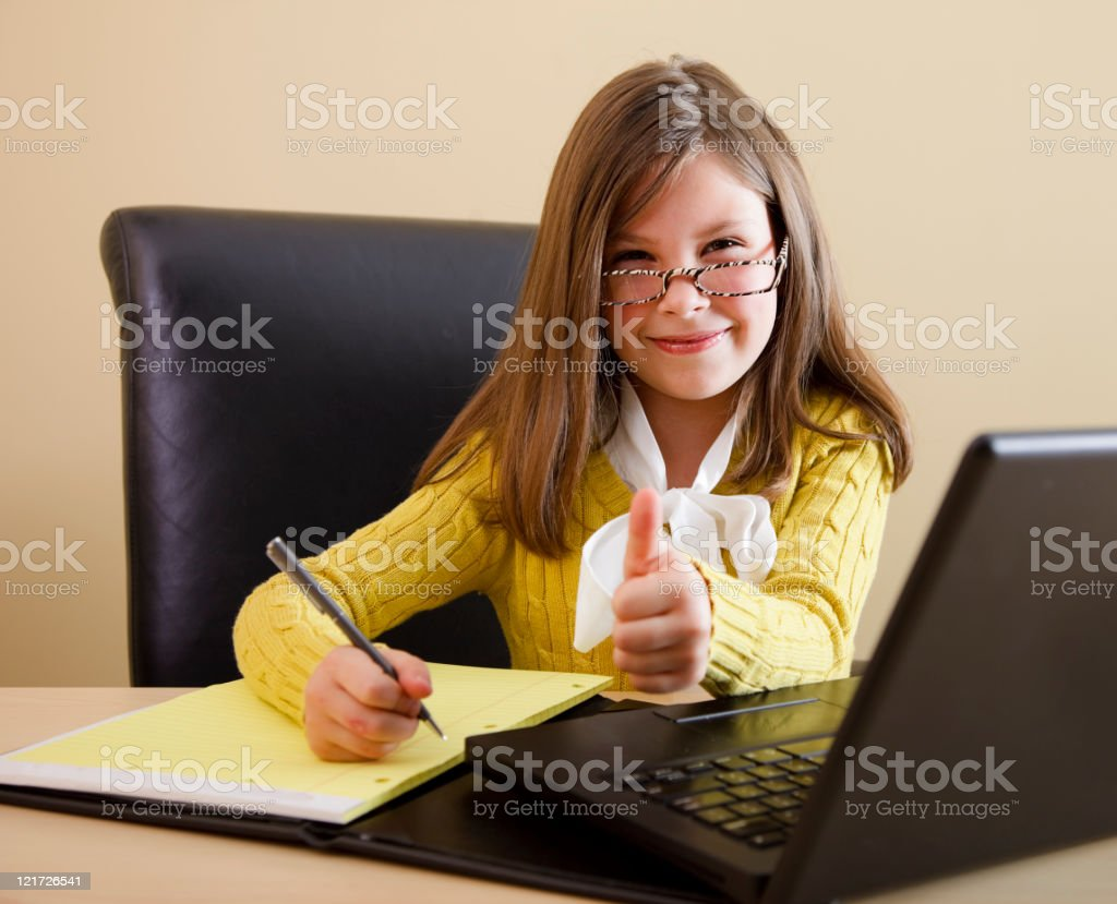 Little Girl Business Person royalty-free stock photo