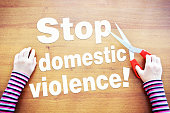 Little girl claims to stop domestic violence