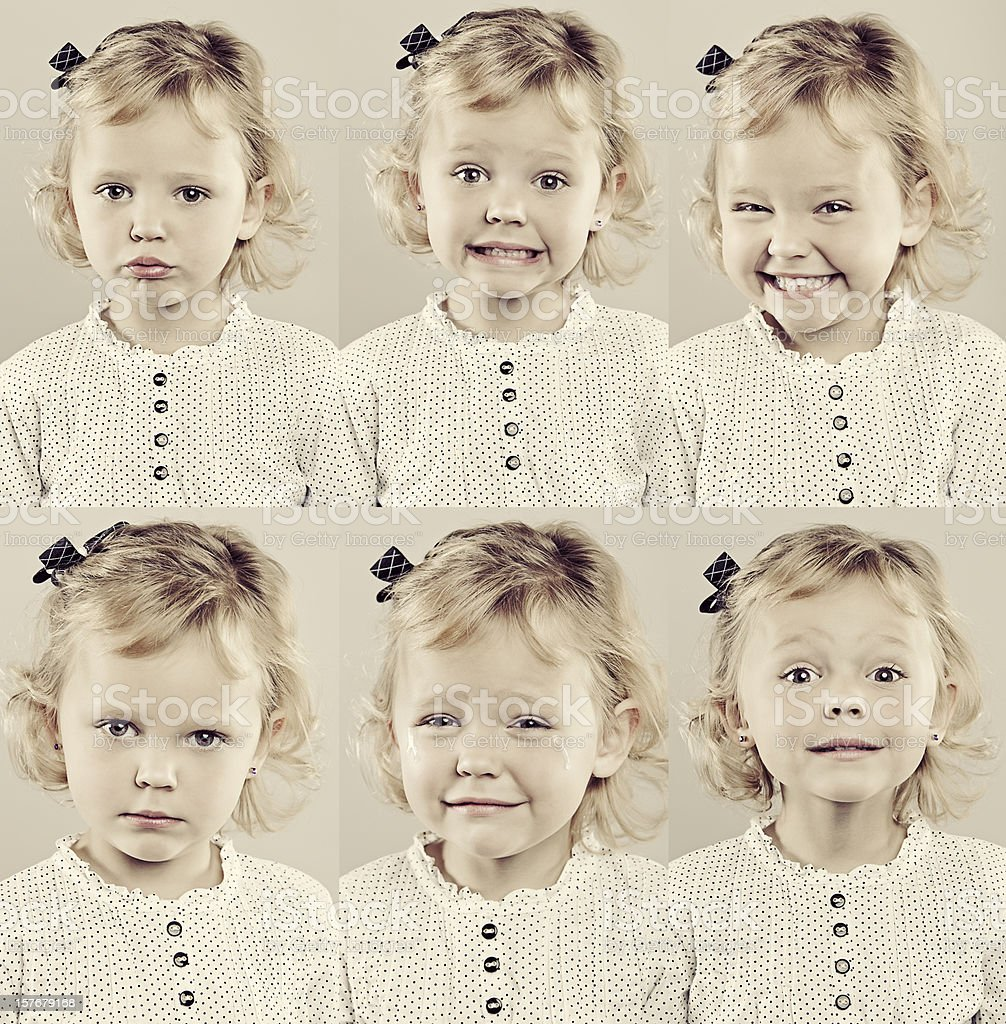 Little Girl Composite royalty-free stock photo