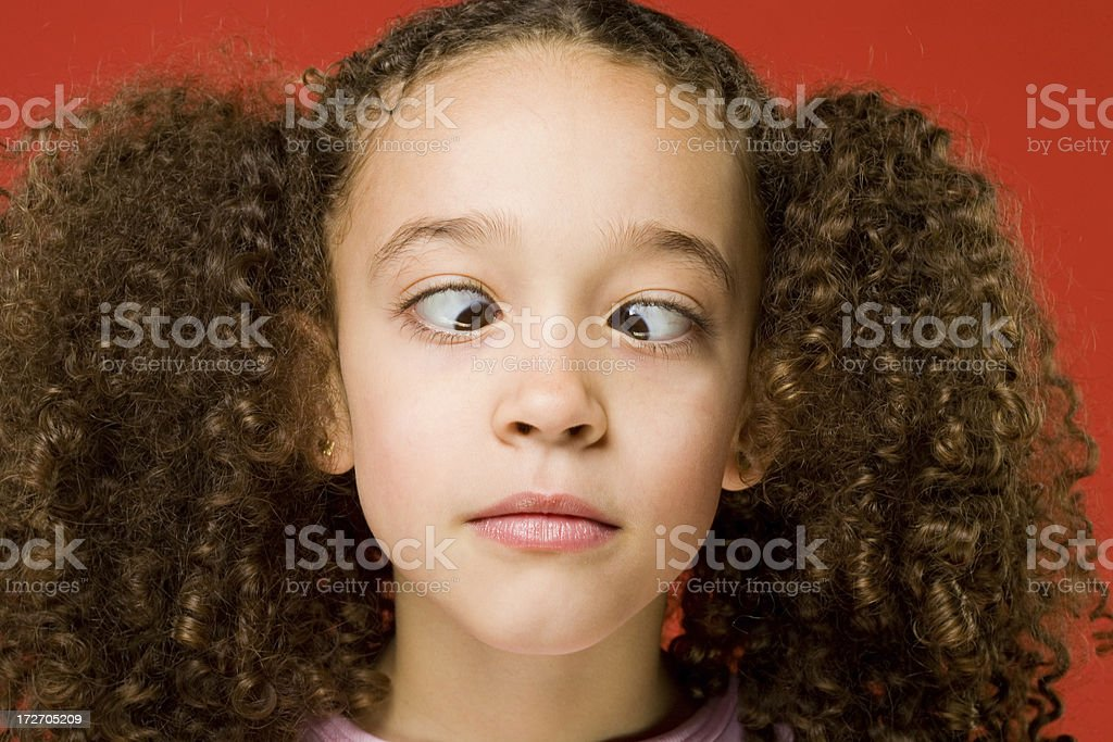 Little girl crossing her eyes! royalty-free stock photo