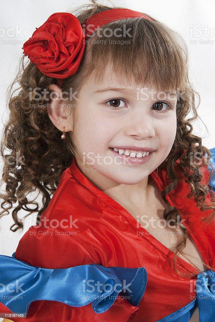 Little girl dancer stock photo