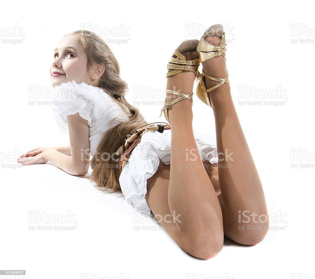 Little girl dancer. stock photo