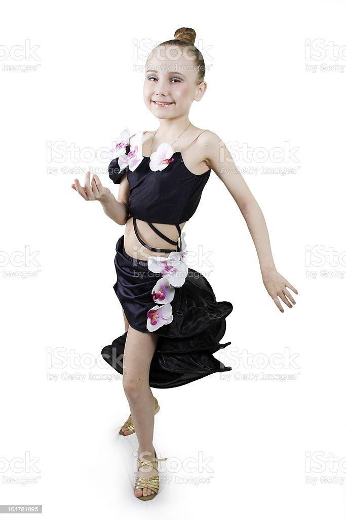 Little girl dancing. stock photo