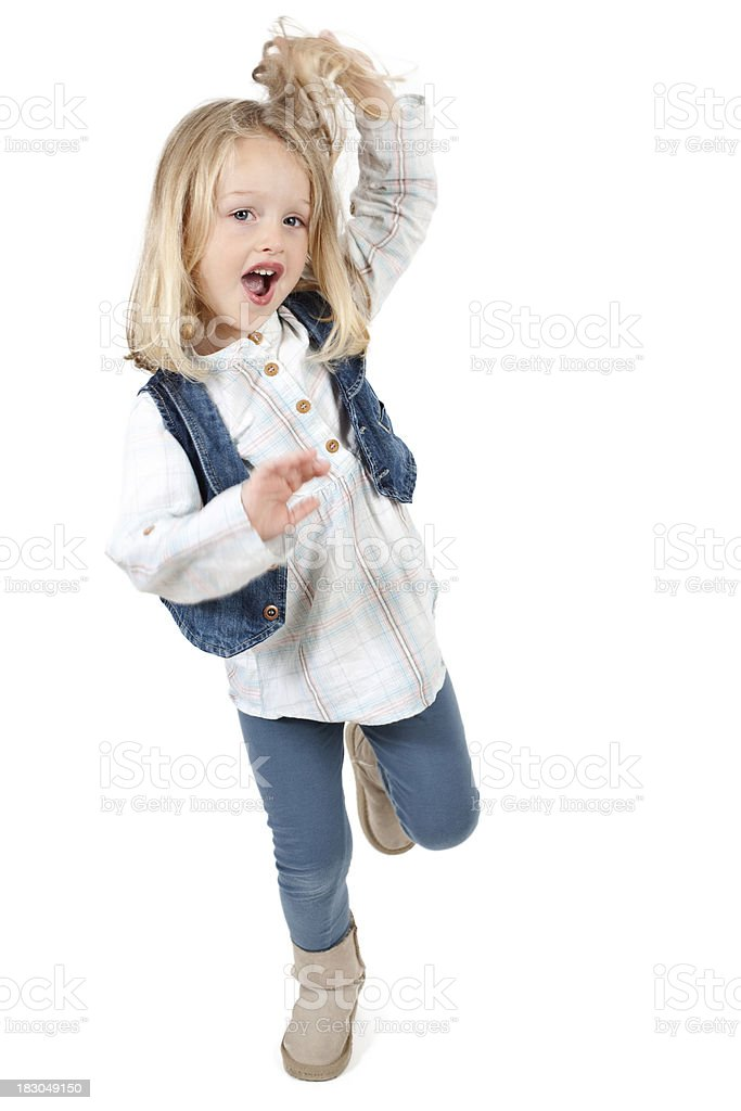 Little Girl Dancing stock photo