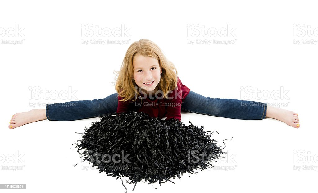 Little Girl Doing the Splits royalty-free stock photo