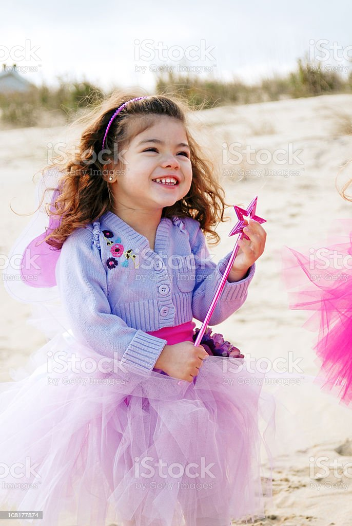 Little Girl Dressed as Fairy Princess stock photo