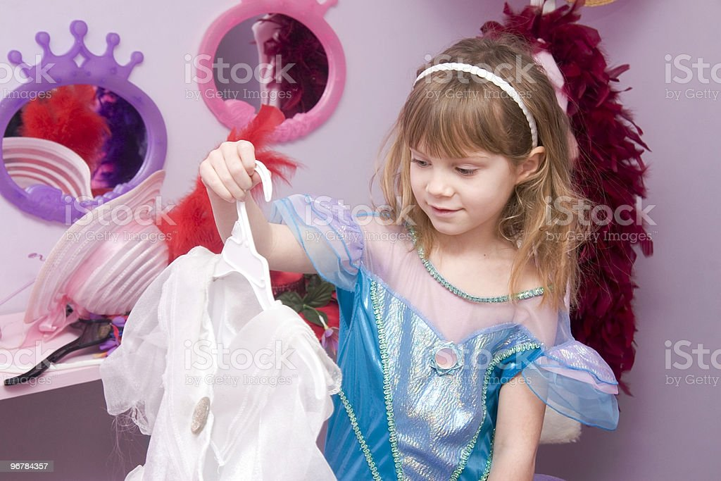 Little Girl Dressing Up royalty-free stock photo