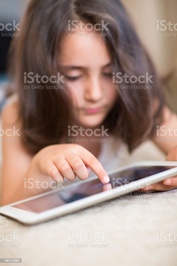Little girl finger. royalty-free stock photo