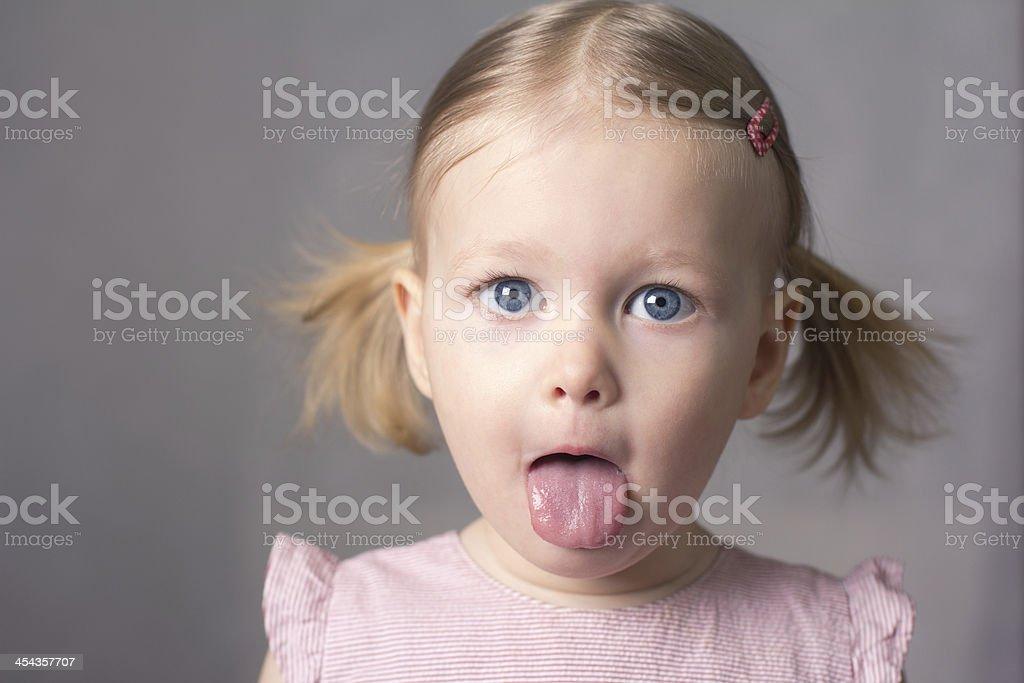 Little girl hamming royalty-free stock photo