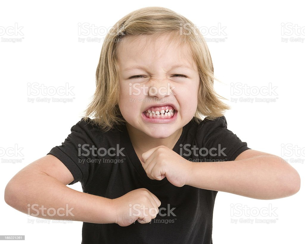 Little Girl Has Temper Tantrum stock photo