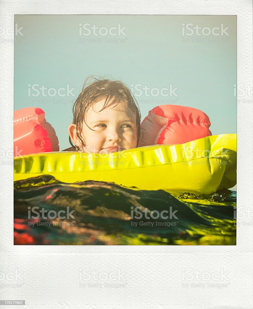 Little girl having fun in the sea royalty-free stock photo