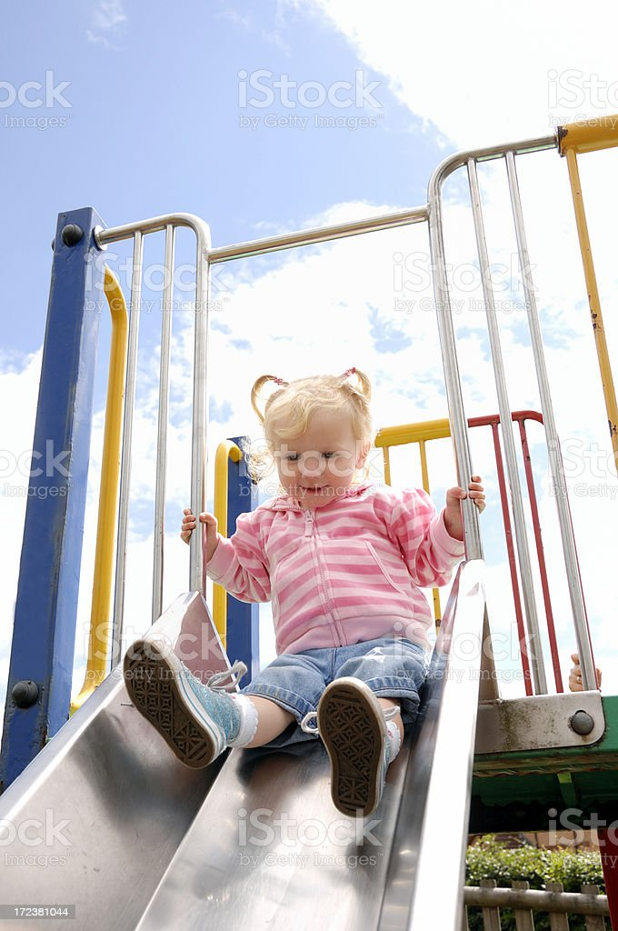 little girl having fun stock photo