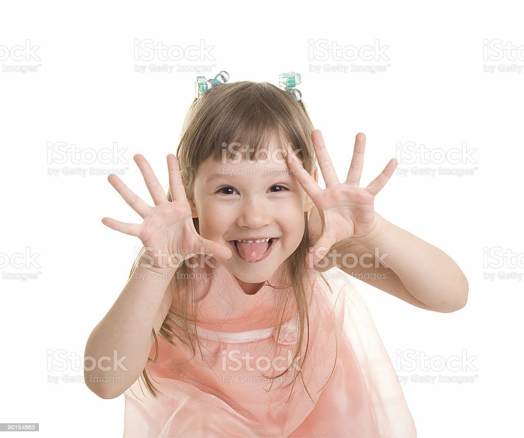 Little girl having fun royalty-free stock photo