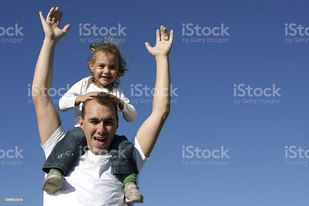 Little Girl Having Fun with Daddy royalty-free stock photo