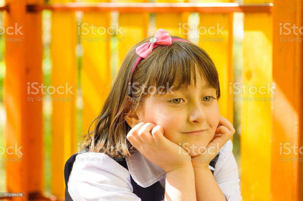 Little girl head royalty-free stock photo
