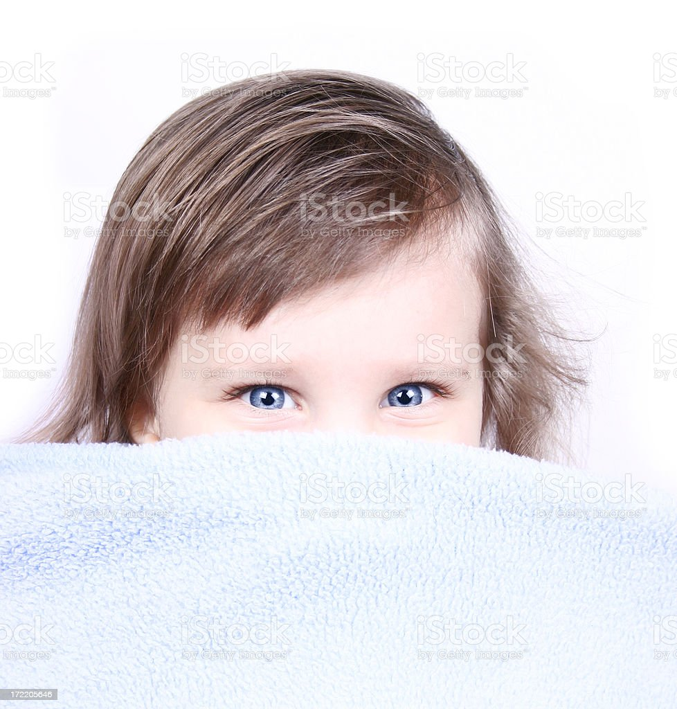 Little girl - hiding royalty-free stock photo
