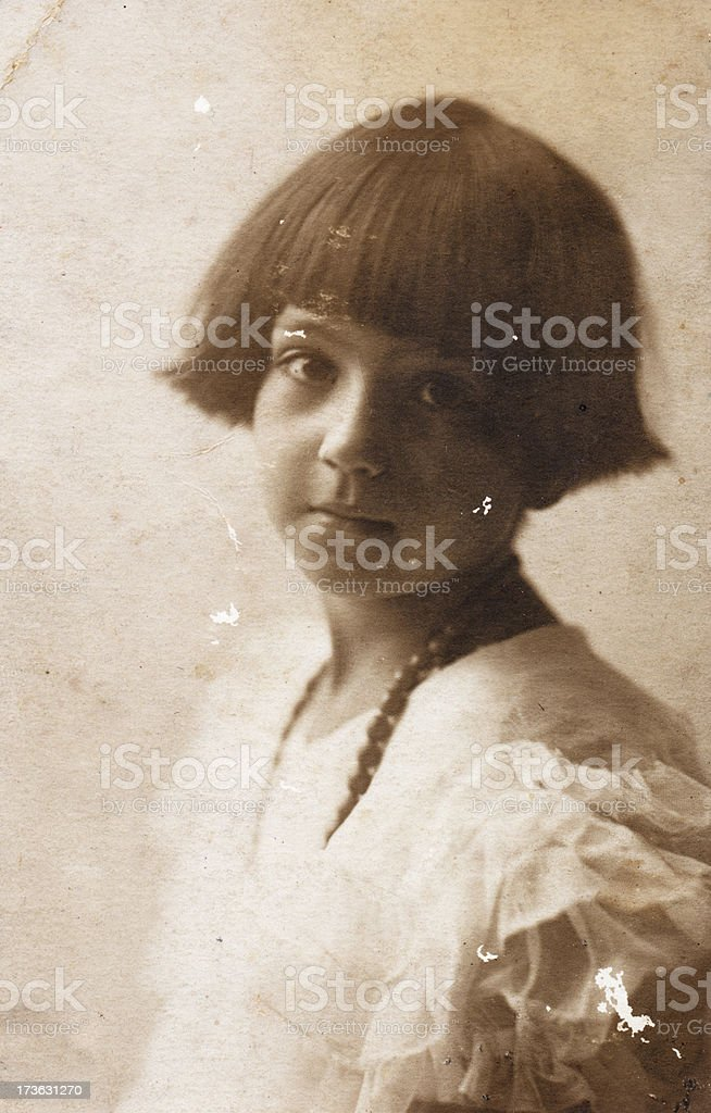 Little girl in 1920 royalty-free stock photo