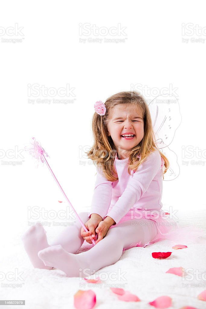 Little Girl in a Fairy Costume stock photo