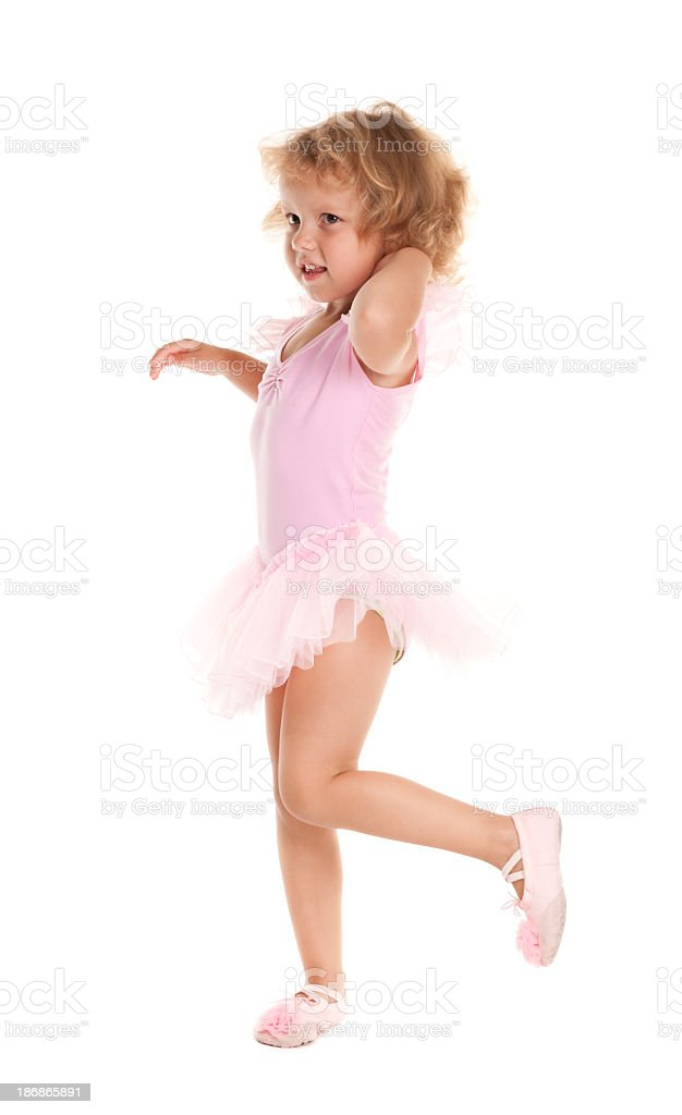 Little girl in ballet suit royalty-free stock photo