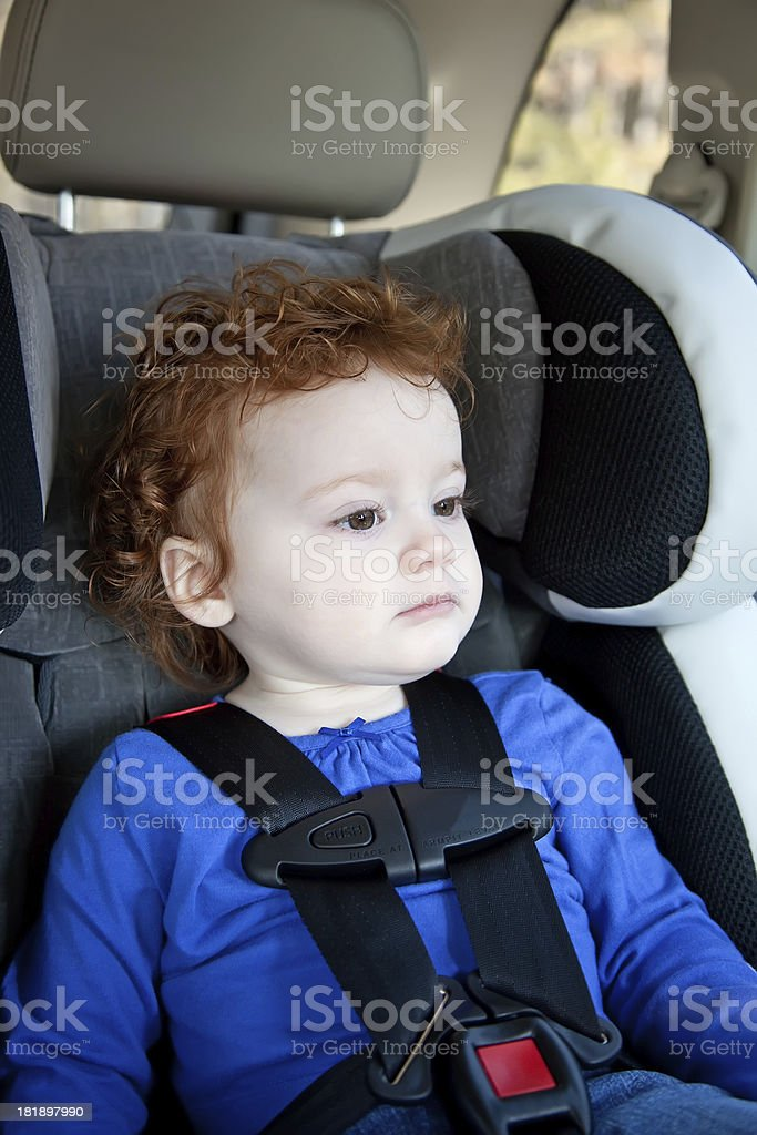 Little Girl in Car Seat royalty-free stock photo