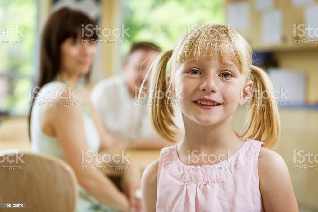 Little Girl in Classroom royalty-free stock photo