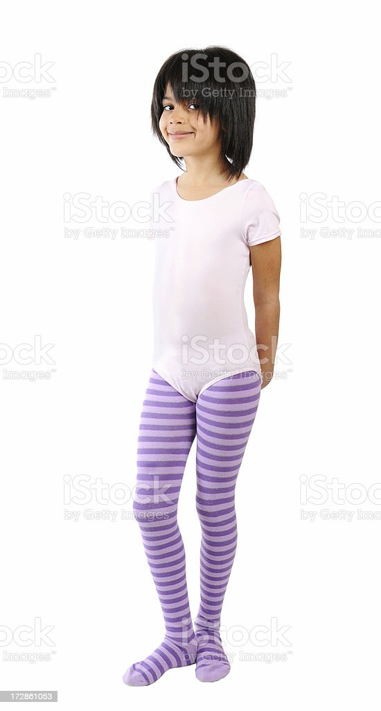 Little Girl in Dance Outfit royalty-free stock photo