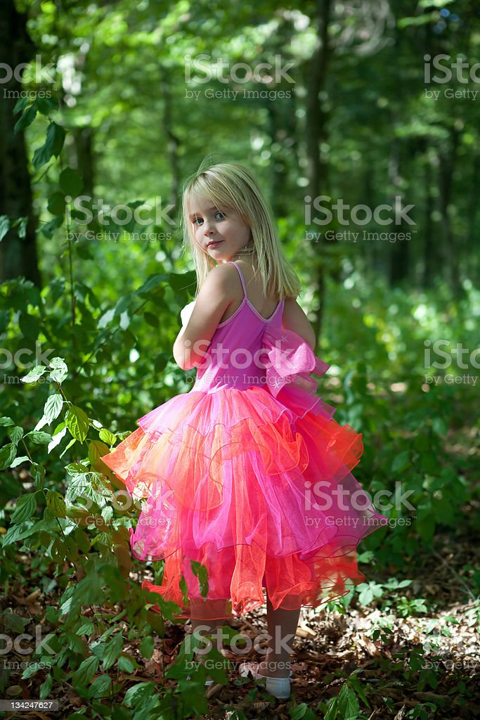 Little girl in fairy costume royalty-free stock photo