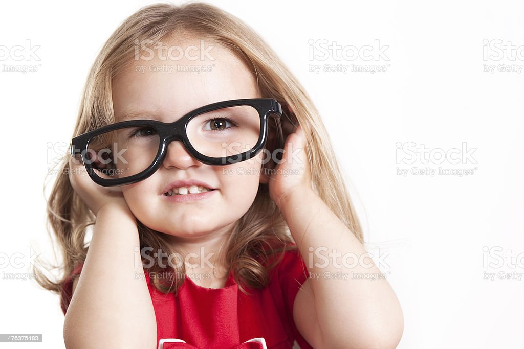 Little Girl In Glasses royalty-free stock photo
