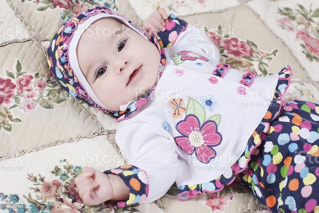 Little girl in her nursery royalty-free stock photo